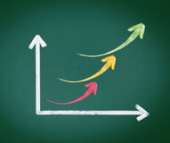 Colourful Arrow Graph Stock Image