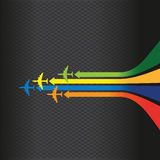 Colourful arrow plane line background Royalty Free Stock Images