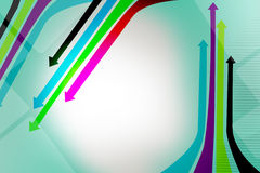 colourful arrows directional, abstract background Stock Photos
