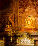 The colourful of art in wat prasingh,chaing mai,tailand. Royalty Free Stock Image