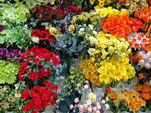 Colourful Artificial Flowers Stock Photo