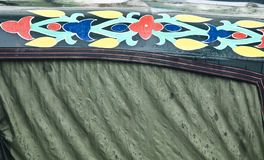 Colourful arts on an artificial leather surface royalty free stock photography