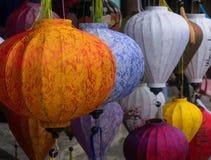 Colourful asian lanterns Stock Photos