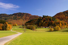Colourful autumn in bavaria Royalty Free Stock Images