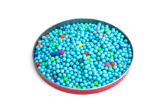 Colourful B.B. Gun Pellets. On white background Stock Photos
