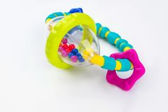 Colourful baby rattle with balls.