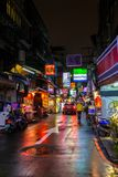 Taipei back streets at night Royalty Free Stock Images