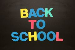 Colourful back to school message Stock Image