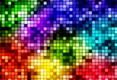 Colourful background. Abstract background with spectrum colours and mosaic pattern Stock Photo
