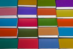Colourful background from books. Colourful background from many books royalty free stock images