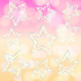 Colourful background with falling stars Royalty Free Stock Photo