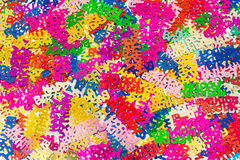 Colourful background of  happy birthday confetti. Colourful background of multicolored happy birthday confetti pieces Royalty Free Stock Photo
