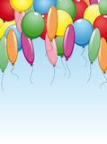 Colourful background with holiday. Balloons for birthday ot party design Royalty Free Stock Image