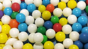 Colourful background of kids balls and toys Stock Photo