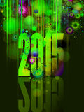 2015 Colourful Background. For New Year Wishes vector illustration