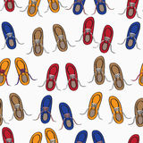 Colourful background pattern of shoes Royalty Free Stock Photography