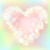 Colourful background with pink heart Stock Images
