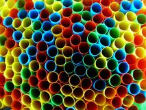 Colourful background series 2. Colourful background using coloured straws Royalty Free Stock Photography