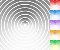 Colourful background set with circle, oval shapes Stock Photos