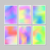 Colourful backgrounds set. Vector mesh template. Stock Photo