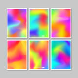 Colourful backgrounds set. Vector mesh template. Stock Photos