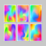 Colourful backgrounds set. Vector mesh template. Stock Image