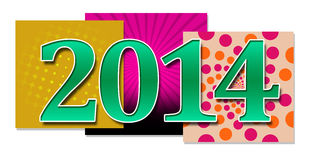 2014 In Colourful Backgrounds Stock Photo