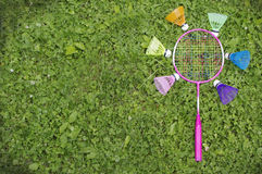 Colourful badminton Stock Images
