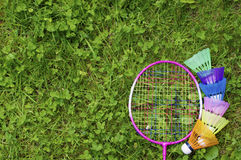 Colourful badminton Royalty Free Stock Image