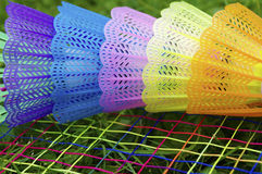 Colourful badminton Stock Image