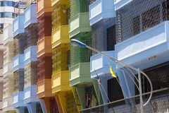 Colourful balconies Royalty Free Stock Images