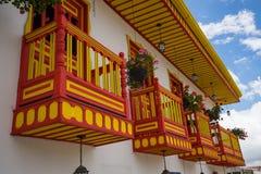 Colourful balconies Stock Photo