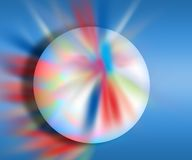Colourful ball. A colourful ball in a colourful background Royalty Free Stock Images