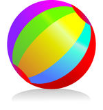 Colourful ball Stock Photo