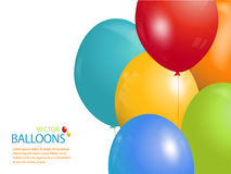 Colourful balloon background landscape Royalty Free Stock Photo