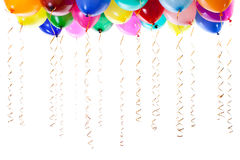 Colourful balloons filled with helium isolated Royalty Free Stock Photo