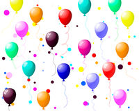 Colourful balloons with glare Stock Images