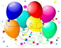 Colourful balloons with glare Royalty Free Stock Images