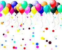Colourful balloons with glare Royalty Free Stock Photography