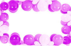 Colourful balloons isolated in shape of frame Stock Images