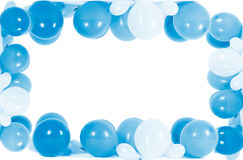 Colourful balloons isolated in shape of frame Royalty Free Stock Photography