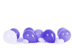 Colourful balloons isolated Royalty Free Stock Images