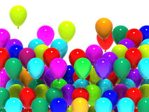 Colourful Balloons Mean Cheerful Party Or Happy Royalty Free Stock Photography