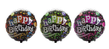 Colourful balloons in a row Royalty Free Stock Photography