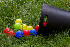 Colourful balls. Colourful plastic balls for children Royalty Free Stock Photos