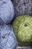 Colourful balls of wool Royalty Free Stock Images