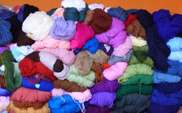 Colourful balls of wool Royalty Free Stock Photos