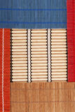 Colourful bamboo rugs in the Chinese style Royalty Free Stock Photography