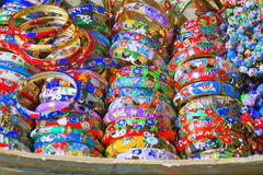 Colourful bangles for sale Royalty Free Stock Image