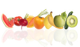 Colourful banner of fruits. Healthy food concept Stock Images